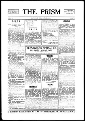 The Prism (Brownwood, Tex.), Vol. 15, No. 13, Ed. 1, Thursday, October 28, 1915