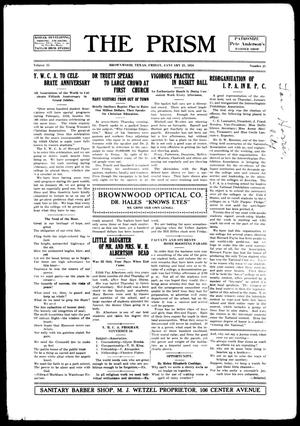 The Prism (Brownwood, Tex.), Vol. 15, No. 21, Ed. 1, Friday, January 21, 1916