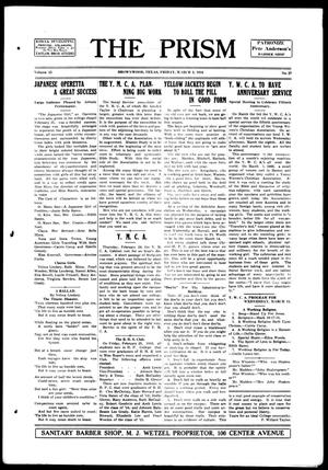 The Prism (Brownwood, Tex.), Vol. 15, No. 27, Ed. 1, Friday, March 3, 1916