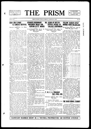The Prism (Brownwood, Tex.), Vol. 15, No. 31, Ed. 1, Friday, March 31, 1916