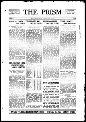 The Prism (Brownwood, Tex.), Vol. 15, No. 33, Ed. 1, Friday, April 14, 1916