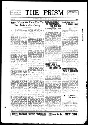 The Prism (Brownwood, Tex.), Vol. 15, No. 34, Ed. 1, Friday, April 21, 1916