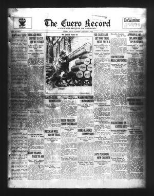 Primary view of object titled 'The Cuero Record (Cuero, Tex.), Vol. 40, No. 7, Ed. 1 Tuesday, January 9, 1934'.