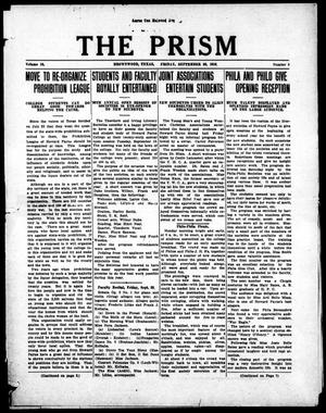 Primary view of object titled 'The Prism (Brownwood, Tex.), Vol. 16, No. 3, Ed. 1, Friday, September 22, 1916'.