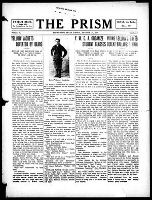 Primary view of object titled 'The Prism (Brownwood, Tex.), Vol. 16, No. 7, Ed. 1, Friday, October 20, 1916'.