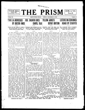 Primary view of object titled 'The Prism (Brownwood, Tex.), Vol. 16, No. 11, Ed. 1, Friday, November 17, 1916'.