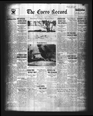 Primary view of object titled 'The Cuero Record (Cuero, Tex.), Vol. 40, No. 84, Ed. 1 Monday, April 9, 1934'.