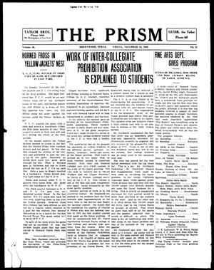 Primary view of object titled 'The Prism (Brownwood, Tex.), Vol. 16, No. 12, Ed. 1, Friday, November 24, 1916'.