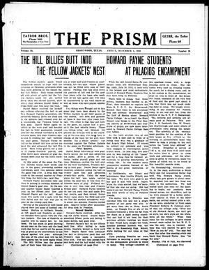 Primary view of object titled 'The Prism (Brownwood, Tex.), Vol. 16, No. 13, Ed. 1, Friday, December 1, 1916'.