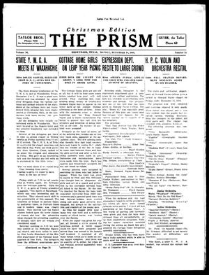 Primary view of object titled 'The Prism (Brownwood, Tex.), Vol. 16, No. 15, Ed. 1, Monday, December 18, 1916'.