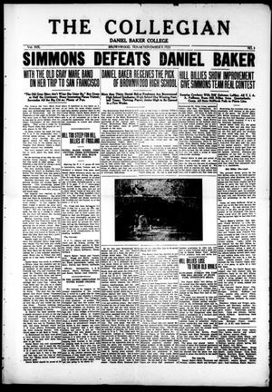 The Collegian (Brownwood, Tex.), Vol. 19, No. 3, Ed. 1, Friday, November 9, 1923
