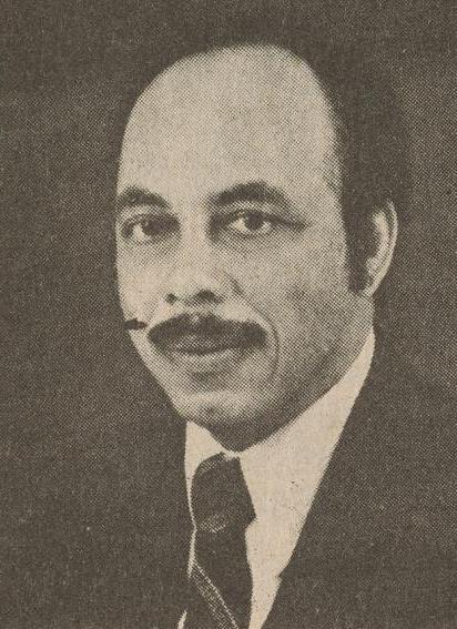 Black and white close up photograph of Comer Cottrell Jr.