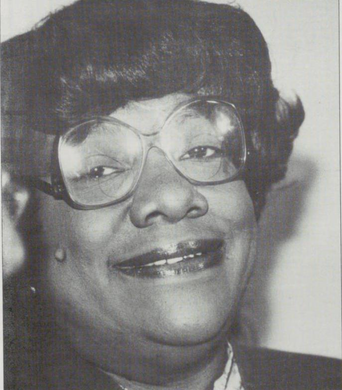 Black and white close up photograph of Elsie Faye Heggins.