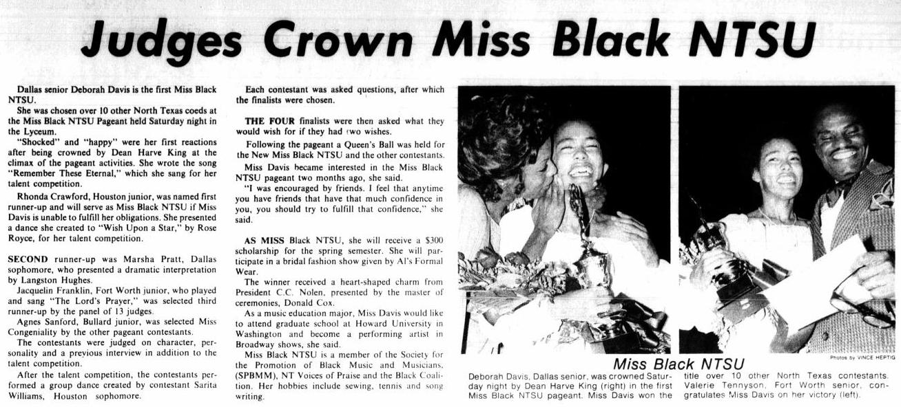 News article with the title at the top. Under the title on the left are two columns of text. On the right are two photos side by side each other. They are of an African American woman. The left photo has another woman beside her, and the left photo has a man beside her.