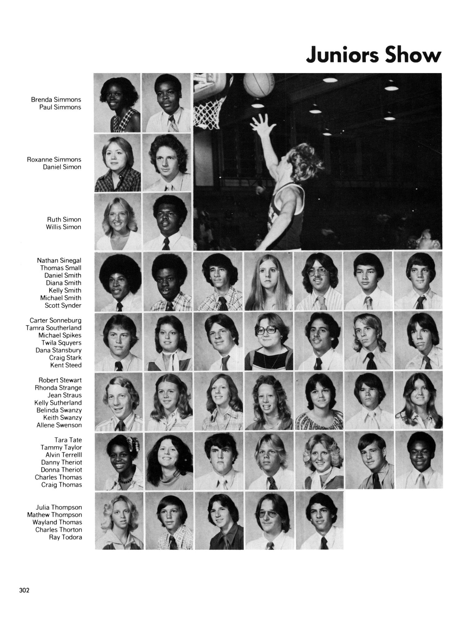 Allene Simmons the yellow jacket, yearbook of thomas jefferson high school