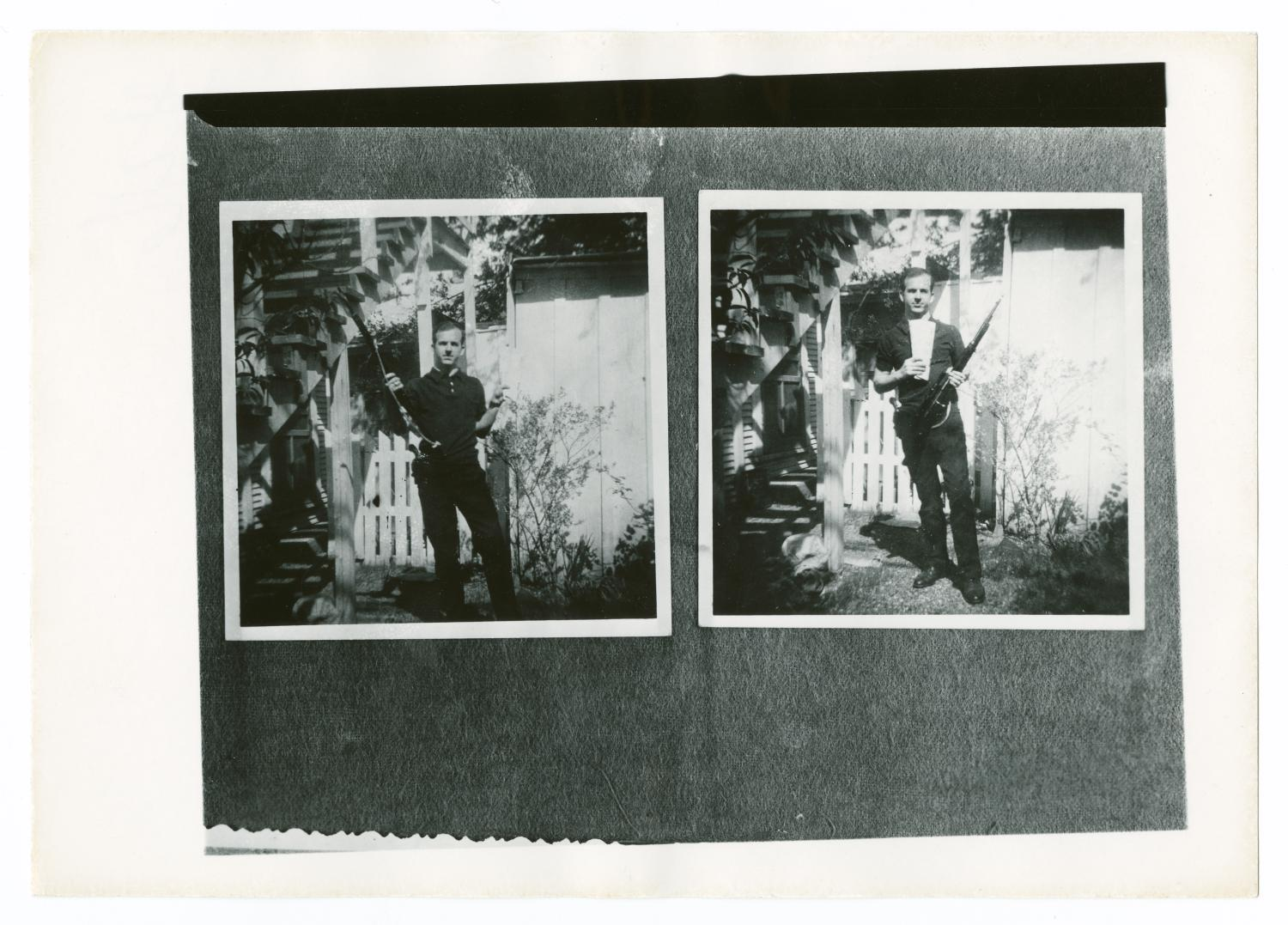 Lee Harvey Oswald in Backyard With Rifle #2 - Side 1 of ...