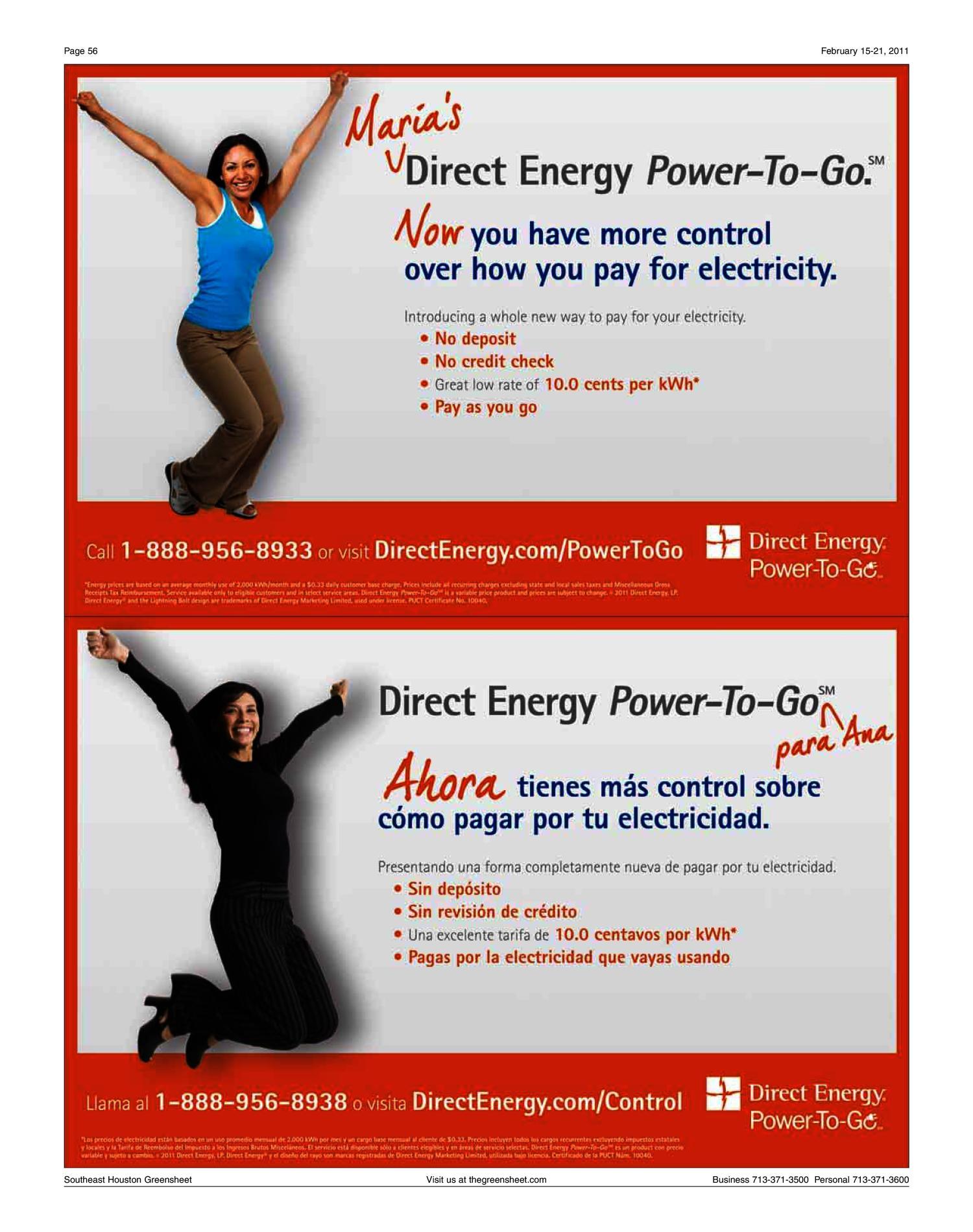 Direct Energy Pay As You Go >> The Greensheet Houston Tex Vol 42 No 25 Ed 1