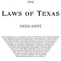 Gammel's Laws of Texas