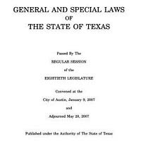 General and Special Laws of Texas