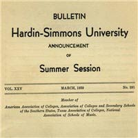 Hardin-Simmons University Catalogs