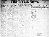 The Wylie-Sachse Newspaper Collection